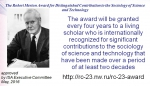 ROBERT K. MERTON AWARD