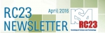 RC23 Newsletter April, 2016