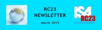 NEWSLETTER, March, 2015